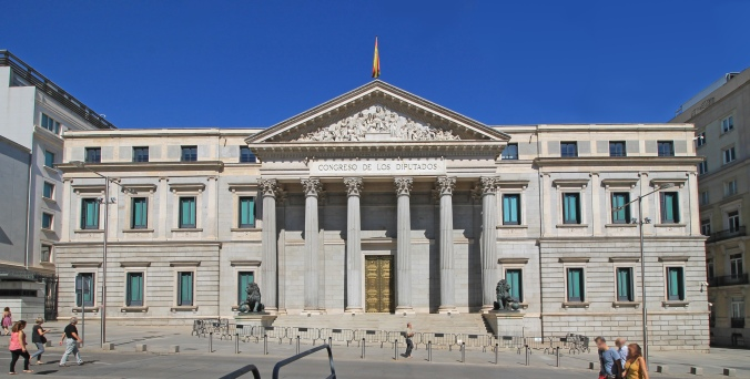 Spanish Congress of Deputies. Built in Madrid in 1850.